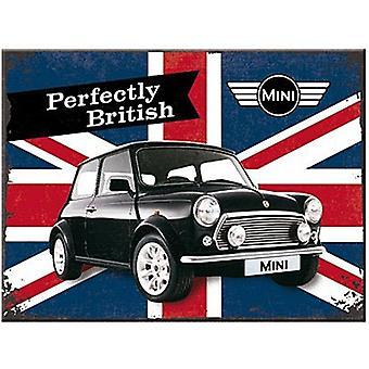 Mini - Perfectly British Steel Fridge Magnet