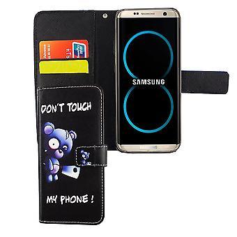 Etui téléphone portable mobile Samsung Galaxy S8 bear avec hache