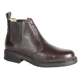 Mens Leather Upper Leather Sock Slip On Chelsea Dealer Ankle Boots Shoes