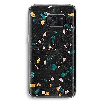 Samsung Galaxy S7 gjennomsiktig sak (myk) - Terrazzo N ° 10