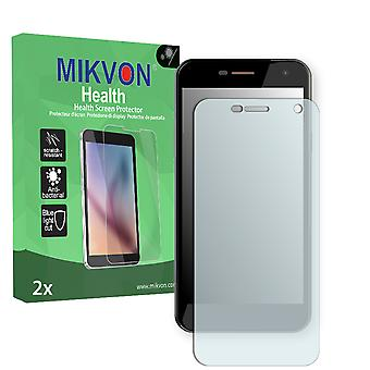 Wileyfox Spark Screen Protector - Mikvon Health (Retail Package with accessories) (intentionally smaller than the display due to its curved surface)