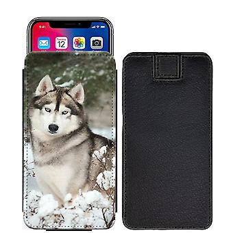 Husky Custom Designed Printed Pull Tab Pouch Phone Case Cover for Google Pixel - [S] - hky09_web