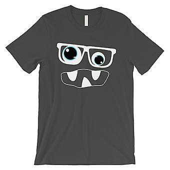 Monster With Glasses Mens Cool Grey T-Shirt