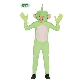 Green alien green male costume for men's Halloween Carnival