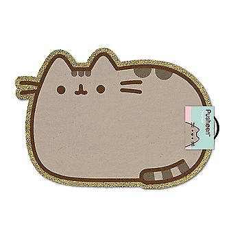 Pusheen Pusheen mat el gato marrón, impreso, fibra de coco, parte inferior hecha de PVC.