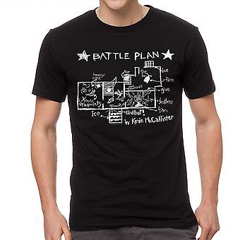 Home Alone Battle Plan By Kevin Men's Black T-shirt