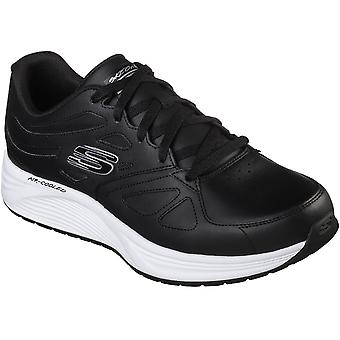 Skechers Mens Skyline Woodmist Leather Lace Up Trainers