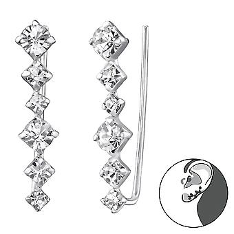 Long - 925 Sterling Silver Ear Cuffs - W24753x