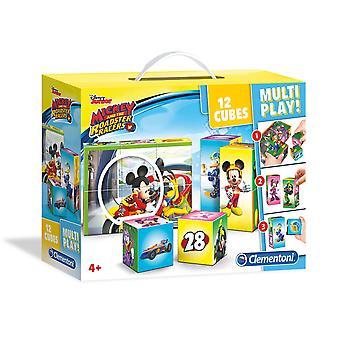 Clementoni Puzzelblokken Mickey Roadster Racers, 12st.