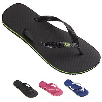 Unisex Kids Havaianas Brasil Logo Rubber Jelly Slip On Summer Flip Flops UK 8-4