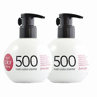 2-pack Revlon Nutri Color Creme 500 lilla rød 270ml