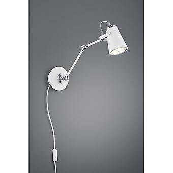Trio Lighting Edward Modern White Matt Metal Wall Lamp