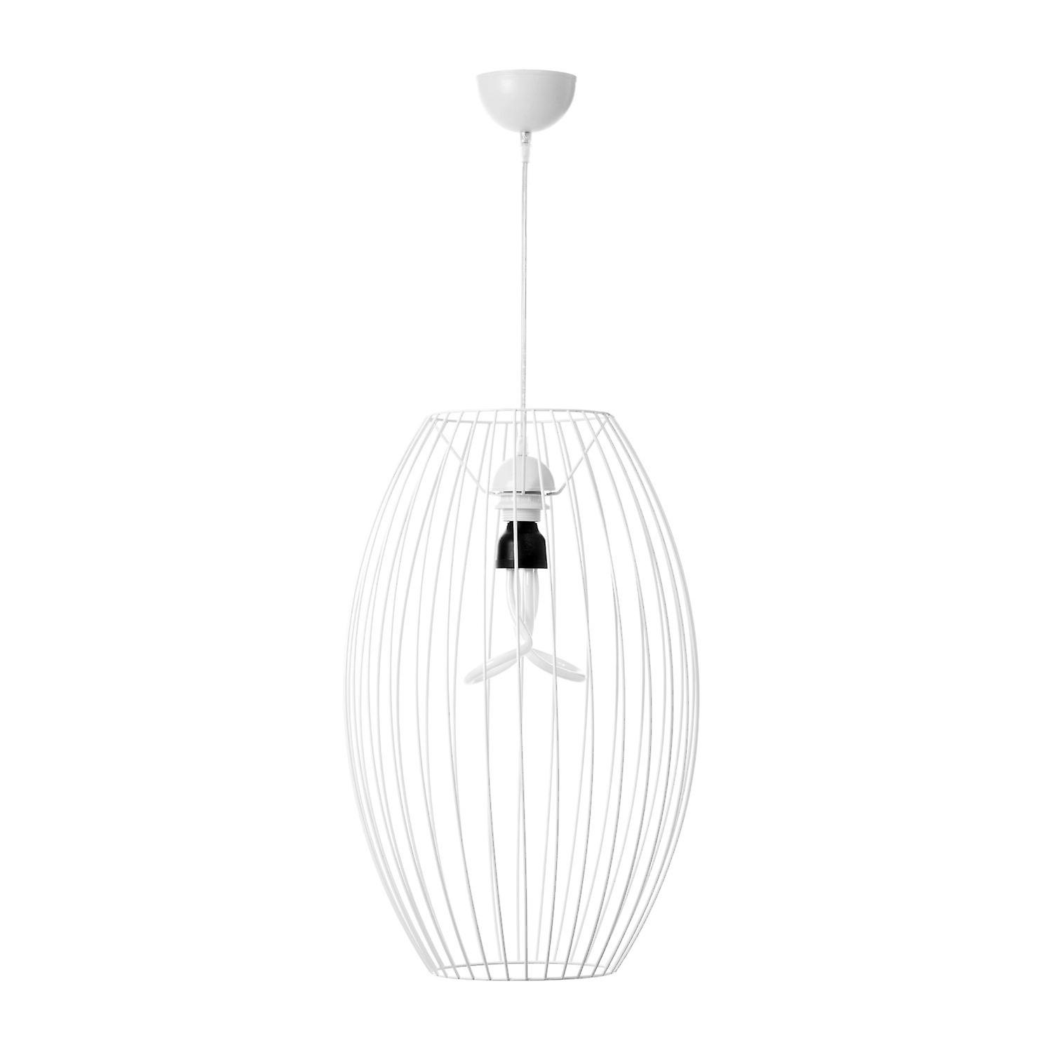 Suspension Blanc Scandi Lampe Look Salon Design Luminaire Lumineux Moderne tsQxdChr