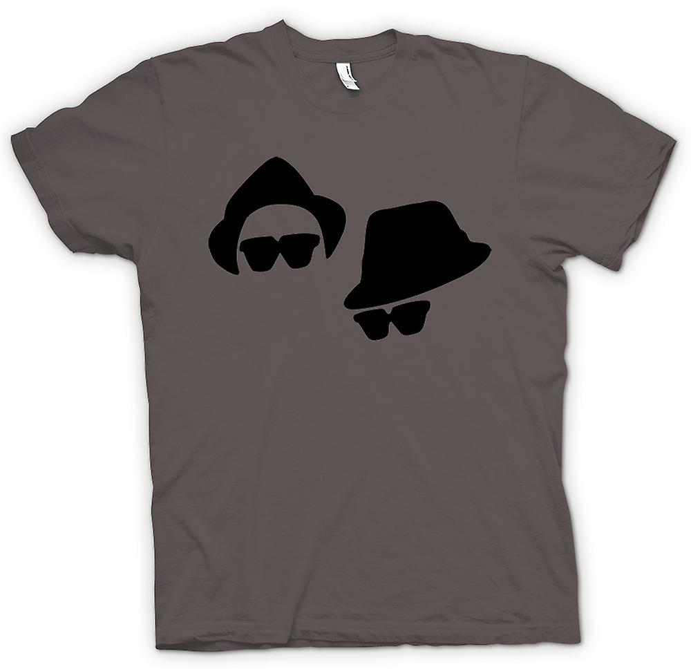 Mens t-shirt-Blues Brothers facce