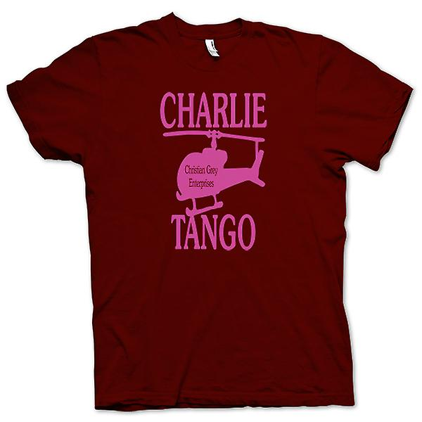 Mens T-shirt - Christian Grey ondernemingen - Charlie Tango