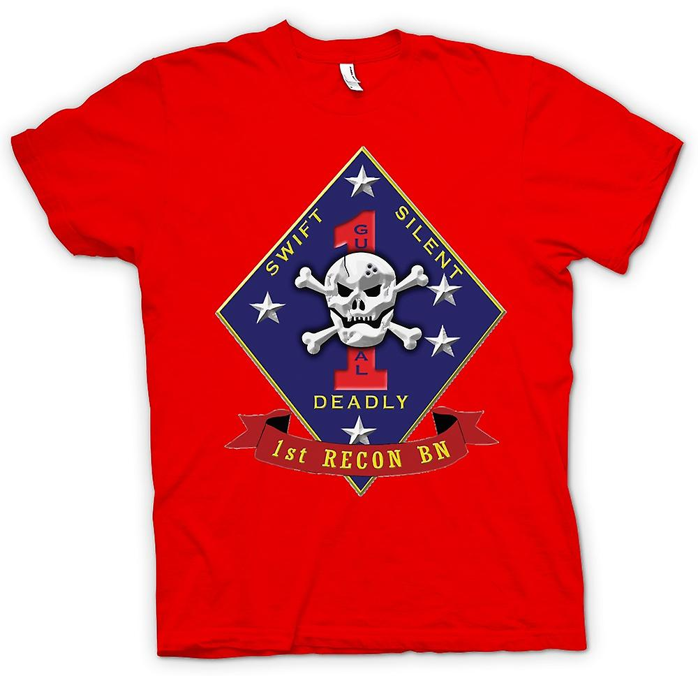 Mens T-shirt - Swift Silent Deadly - USMC Recon