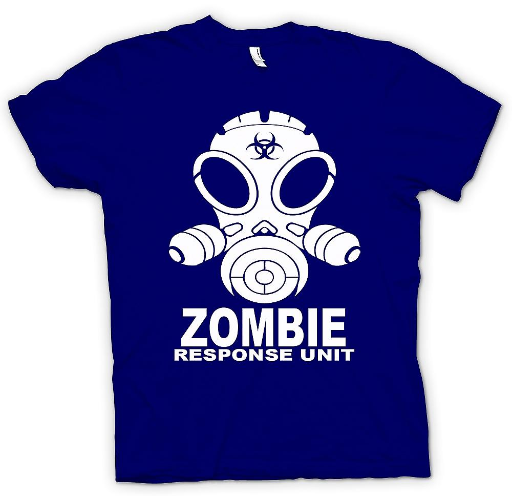 Heren T-shirt - Unit van de reactie van de Zombie - Gasmask