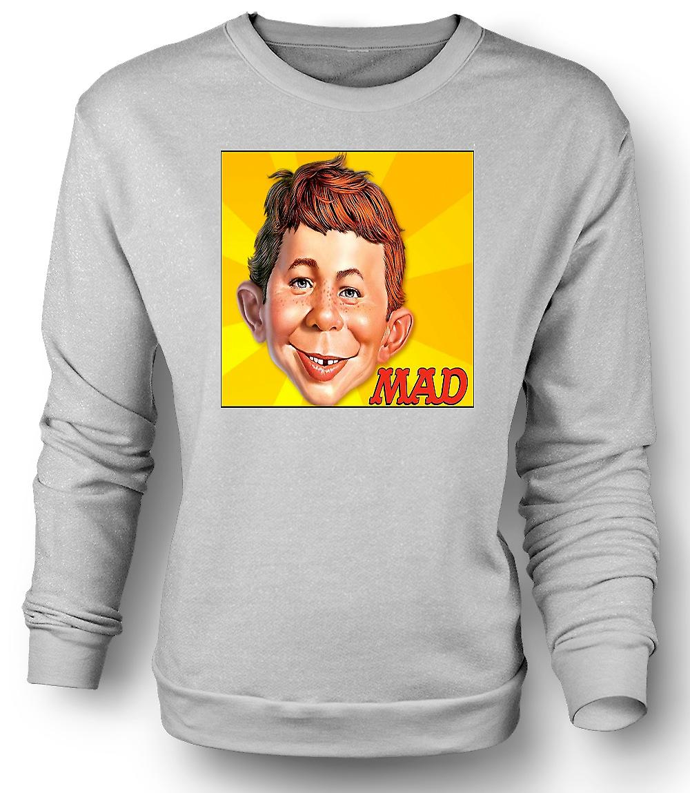 Mens Sweatshirt Mad Satiracal - rolig