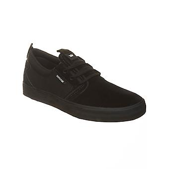 Supra Black-Black Suede Flow Shoe