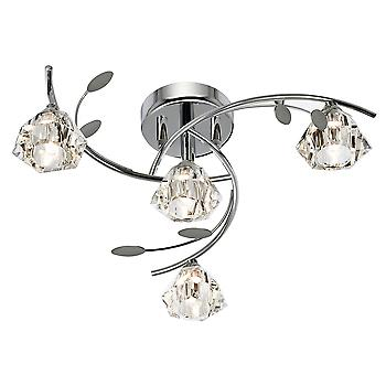 Searchlight 2634-4CC Sierra 4 Light Semi Flush Ceiling Light In Chrome