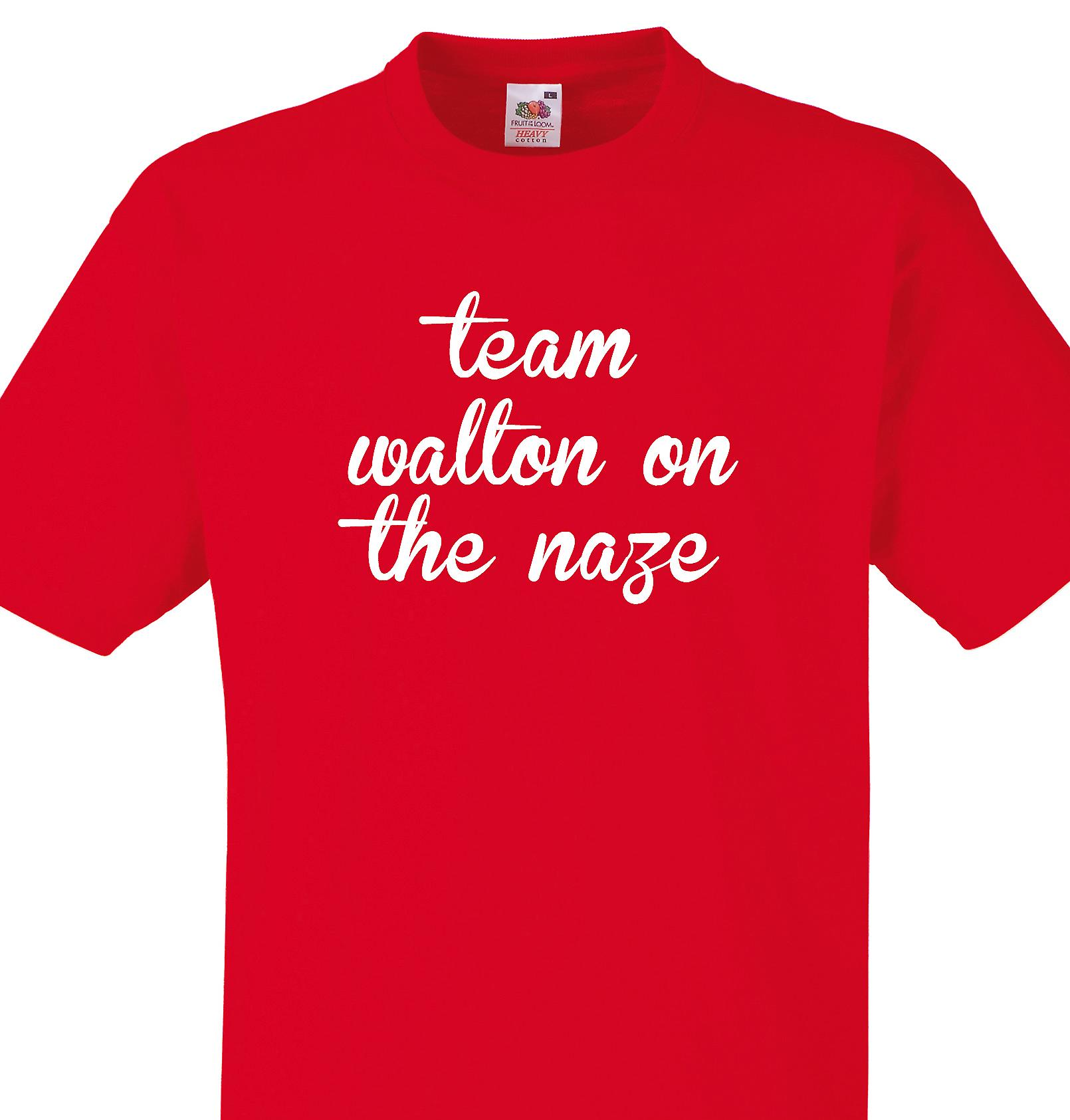 Team Walton on the naze Red T shirt