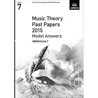Musikteori forbi papirer 2015 Model svar, ABRSM Grade 7 (teori af musik eksamen svar (ABRSM))
