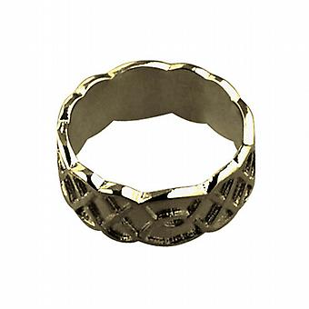9ct Gold 8mm Celtic Wedding Ring Size I