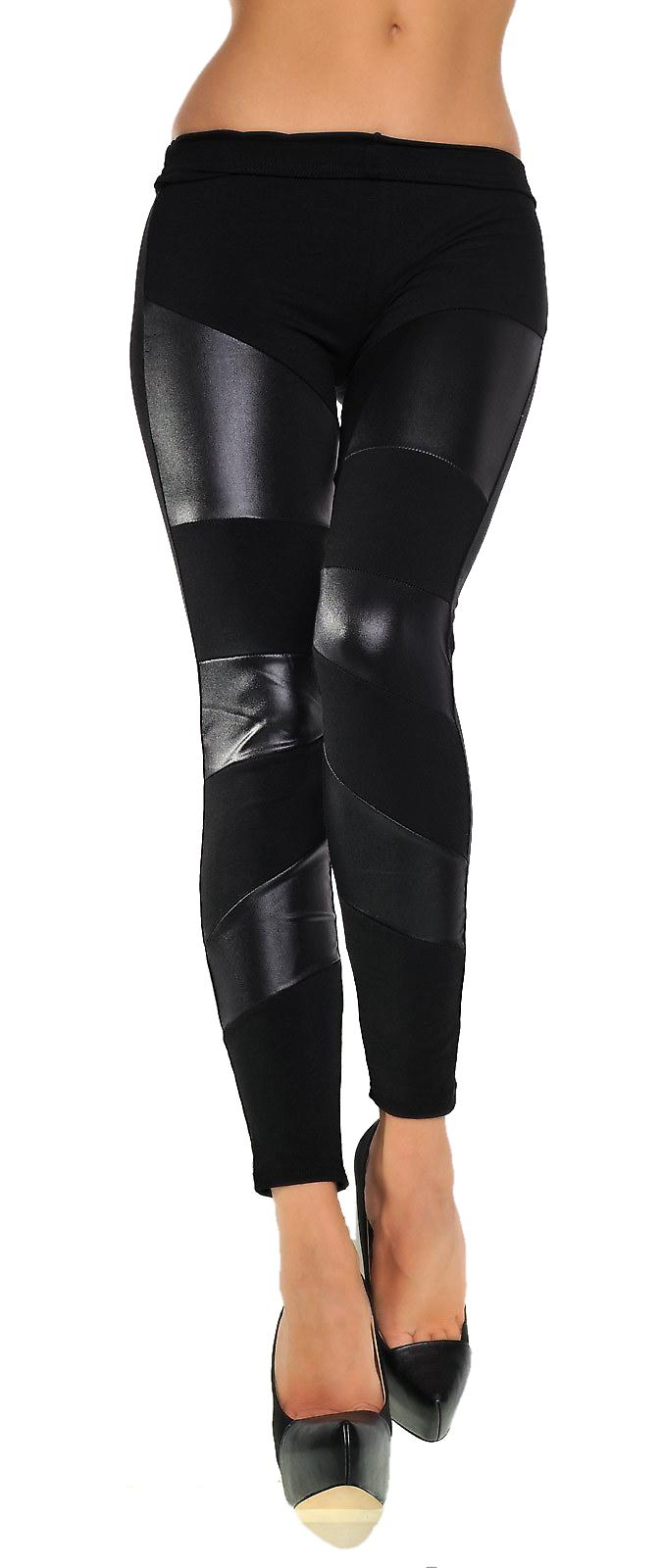 Waooh - Legging with parts in leatherette Etar