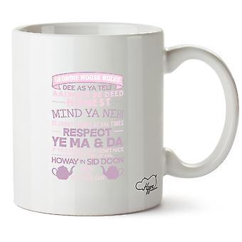 Hippowarehouse Geordie Hoose Rules Printed Mug Cup Ceramic 10oz