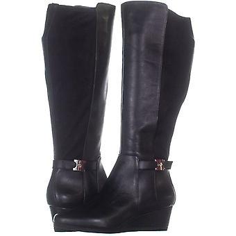 Giani Bernini Womens Catrinaa Leather Round Toe Knee High Fashion Boots