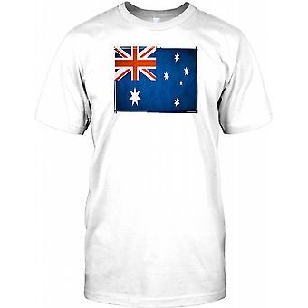 Australia Flag - Ozzie National Colours Kids T Shirt