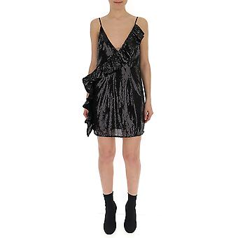 Laneus Black Glitter Dress