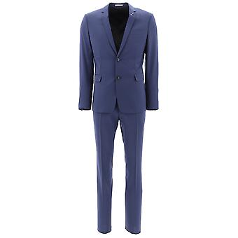 Dior Homme Blue Wool Suit