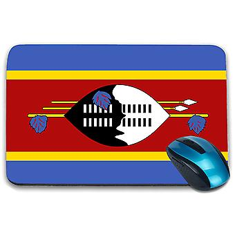 i-Tronixs - Eswatini Flag Printed Design Non-Slip Rectangular Mouse Mat for Office / Home / Gaming - 0057