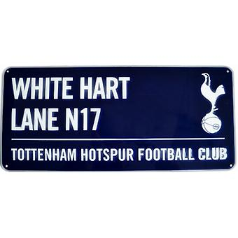 Tottenham Hotspur White Hart Lane (blue) metal street sign (bb)