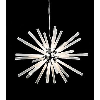 Firstlight-LED licht plafond hanger chroom, Frosted Acrrylic Shades-4882CH
