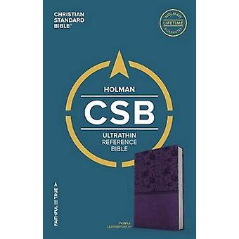 CSB Ultrathin Reference Bible - Purple Leathertouch by Holman Bible S