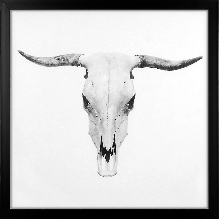 Grindstore Bull Skull Large Framed Canvas Print