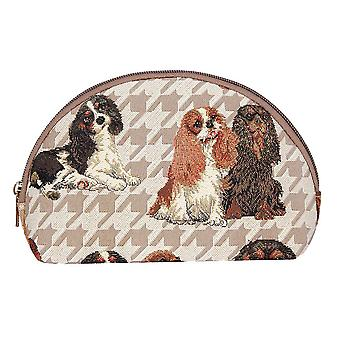 Cavalier king charles spaniel cosmetic bag by signare tapestry / cosm-kgcs