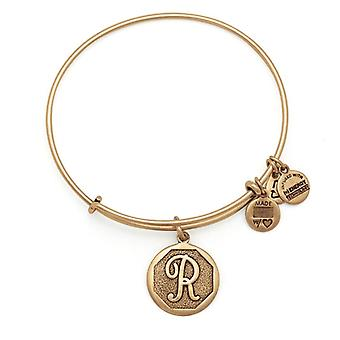 Alex en Ani initiële R Gold Bangle A13EB14RG