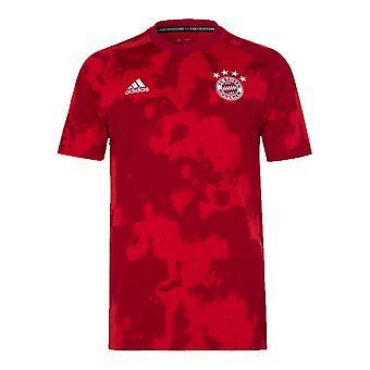 2019-2020 Bayern Munich Adidas Pre-Match Training Shirt (Red) - Kids