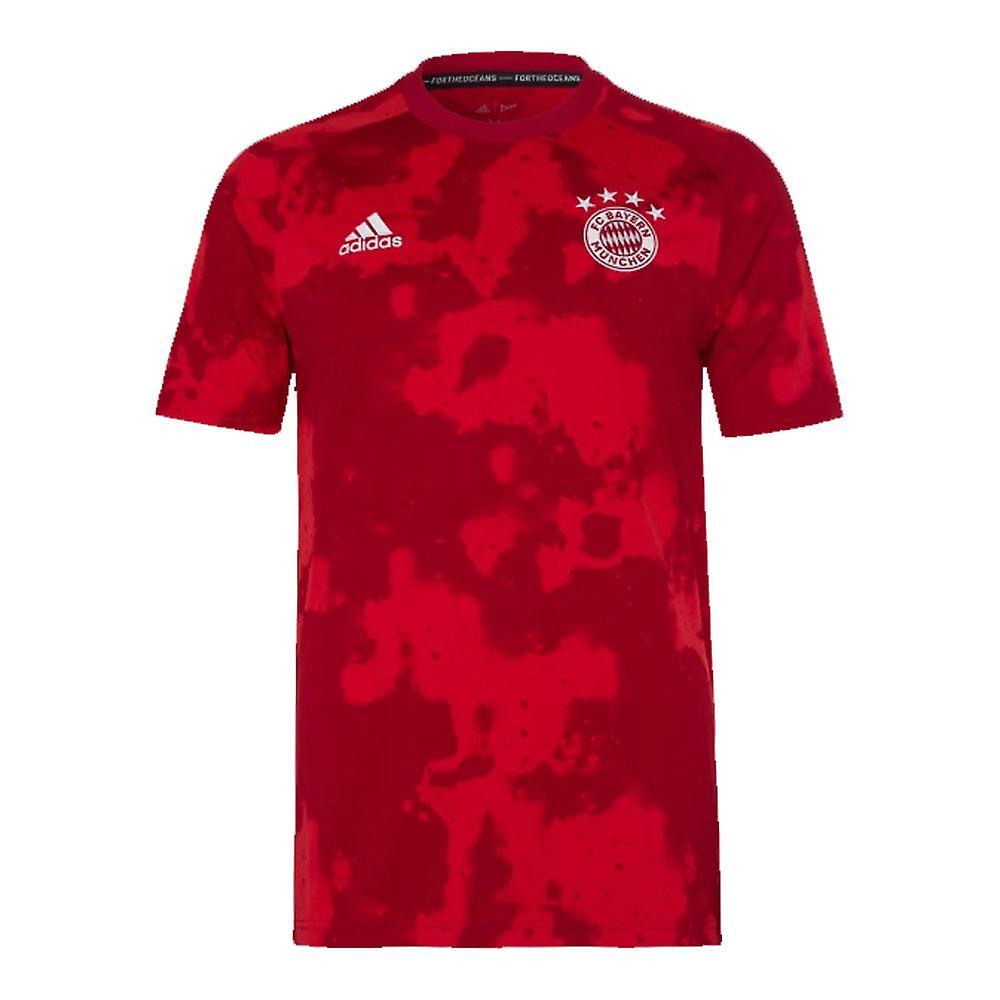 2019-2020 Bayern Munich Adidas Pre-Match Training Shirt (Rouge) - Enfants