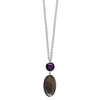 Pilgrim GoDiva ladies´ necklace  purple/silver (549211)