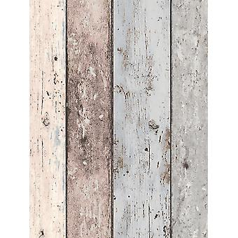New England Blue and White Wood Effect Fond d'écran AS Création 8550-39