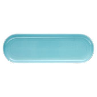 Ladelle Mi Casa Aqua Oblong Platter