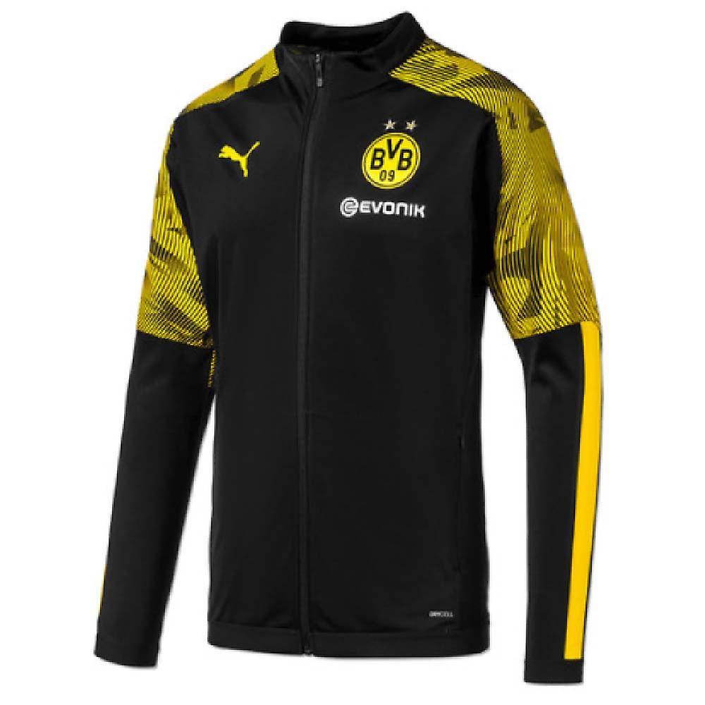 2019-2020 Borussia Dortmund Puma Poly Jacket (noir)
