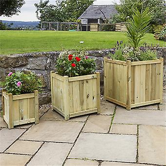 Zest 4 Leisure Holywell Wooden Planters - Set of 3