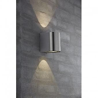 Led 2 Light Outdoor Wall Light Stainless Steel Ip44