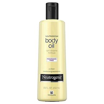 Neutrogena body oil, light sesame formula, fragrance free, 8.5 oz