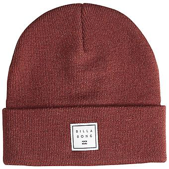 Billabong Knitted Cuff Beanie ~ Stacked oxblood